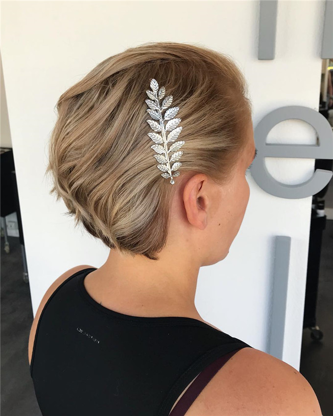 #weddinghair#shortweddinghairstyles