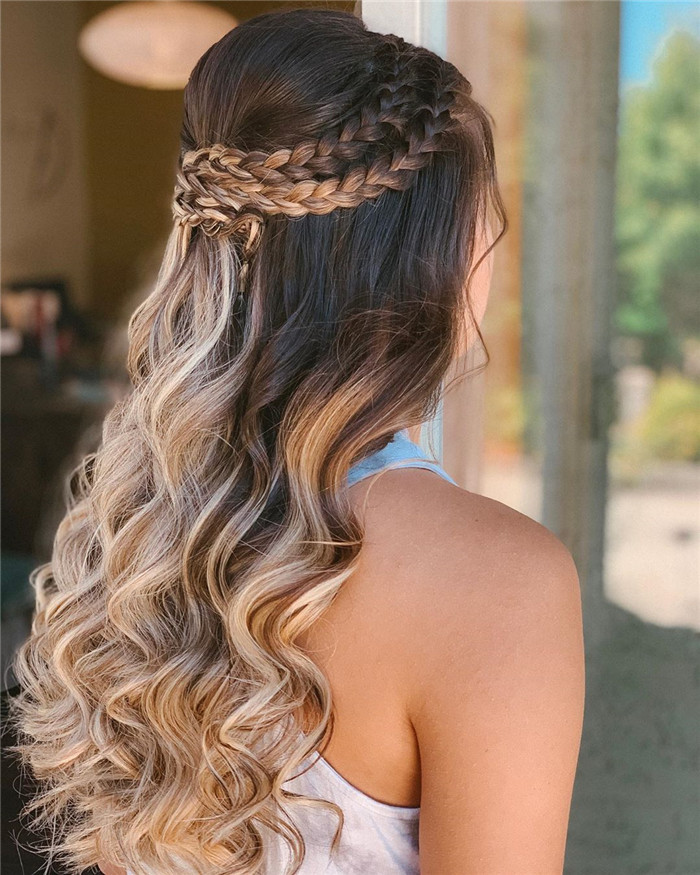 42 Easy And Pretty Prom Hairstyles Ideas For Long Hair In ...